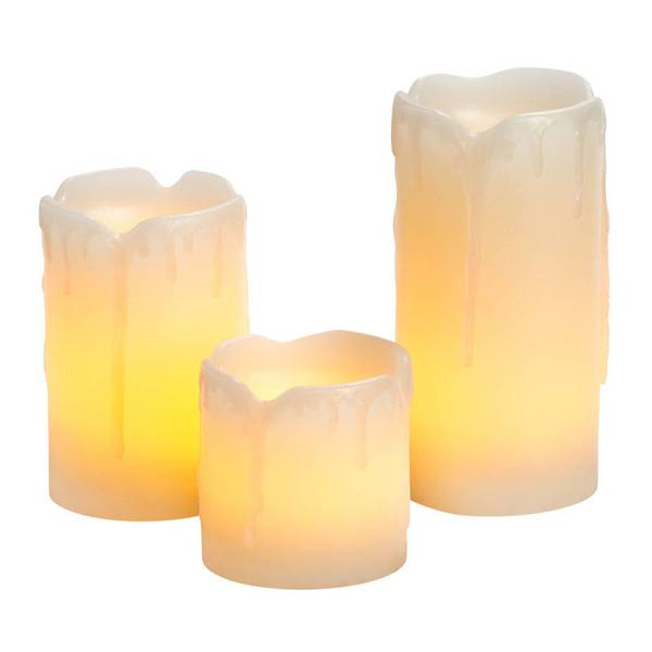 Mini Melted Flameless Candles