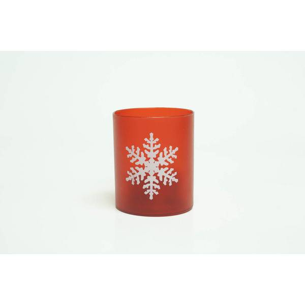 LED Flameless Printed Snowflake Votive Set