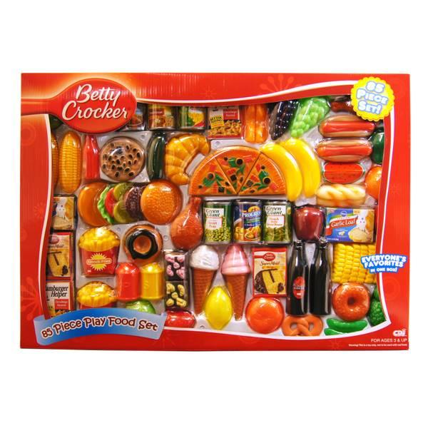 Play Food Set Toys : Betty crocker piece play food set