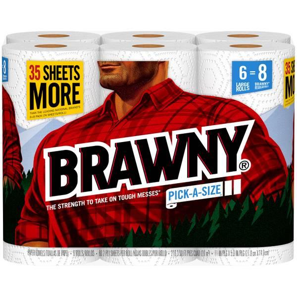 Paper Towels Jumbo Rolls: Brawny Large Roll Paper Towels