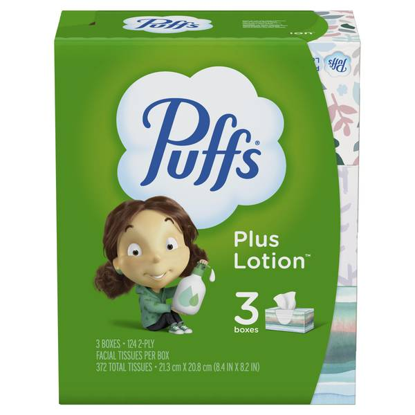 Plus Lotion Facial Tissue3 Pack