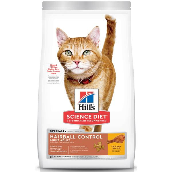 Hairball Control Light Adult Cat Food