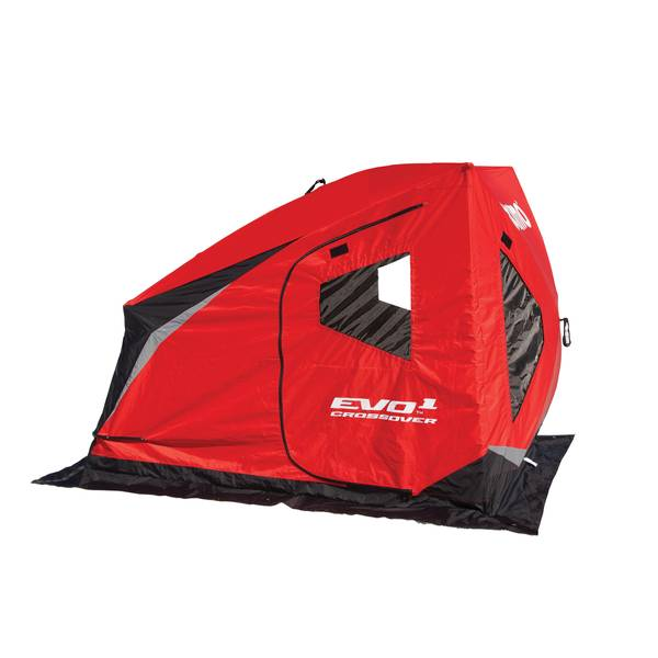 Eskimo evo 1 man crossover portable ice fishing shelter for Ice fishing shelters clearance