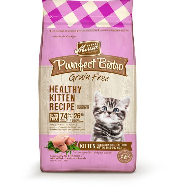4 lb Purrfect Bistro Grain Free Chicken Healthy Kitten Food
