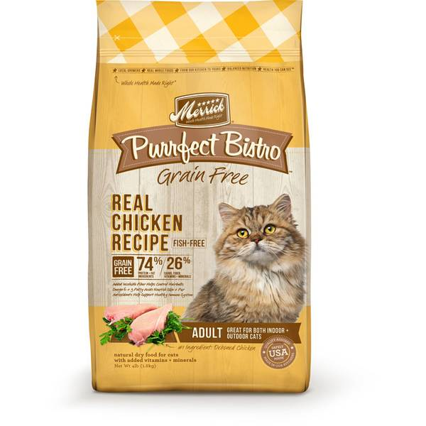 4 lb Purrfect Bistro Grain Free Real Chicken Dry Cat Food