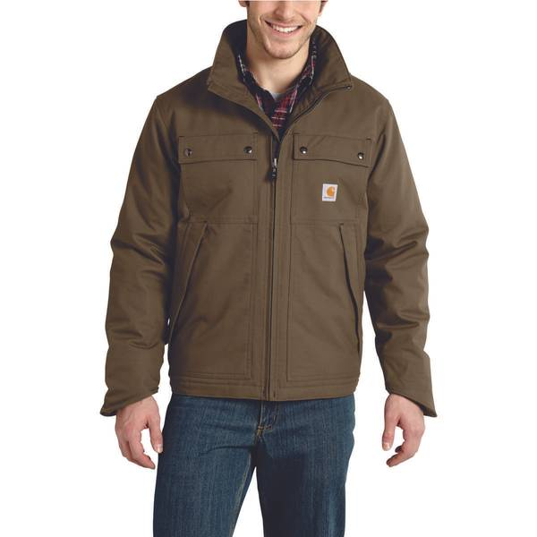 Big & Tall Men's Canyon Brown Quick Duck Jefferson Traditional Jacket