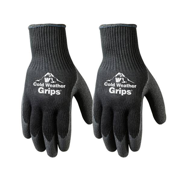 Men's Winter Weight Latex Coated Palm Glove 2-Pack