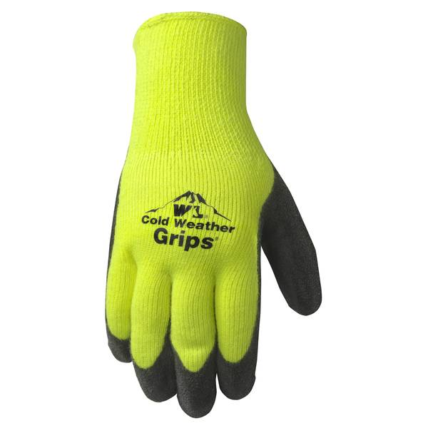 Men's Hi-Viz Green Heavyweight Grip Work Gloves