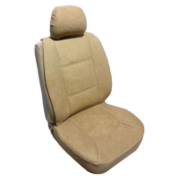 Tan Foam Velour Sideless Seat Cover