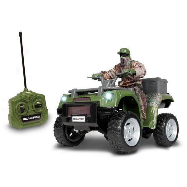 Radio-controlled Realtree ATV with Rider