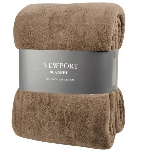 Northpoint Trading Camel Newport Micro Fleece Plush Blanket