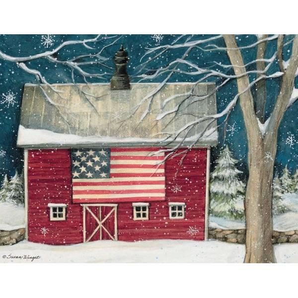 Lang Patriotic Holiday Boxed Christmas Card