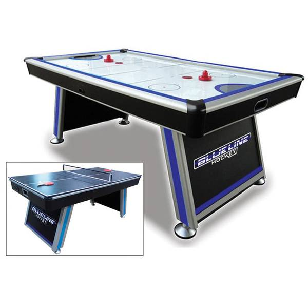 Triumph Sports Blue Line Air Powered Hockey Table With Table Tennis Top - Air hockey table with ping pong top