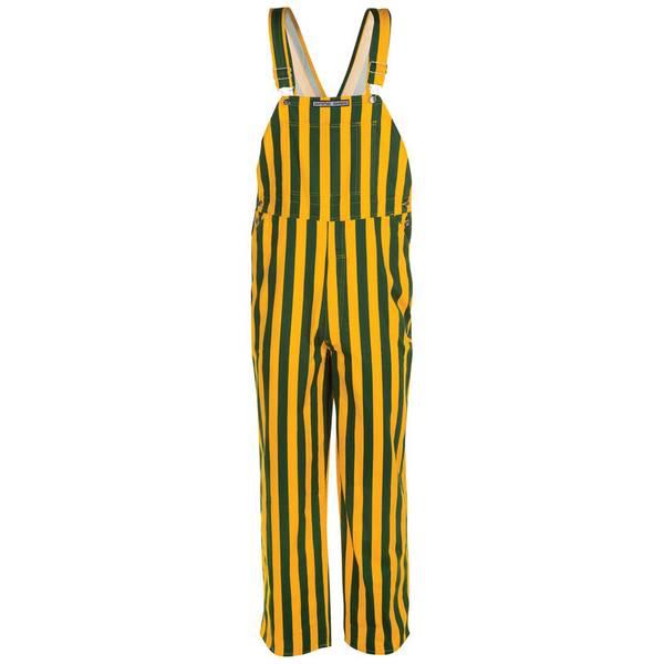 Green and Gold Stripe Bib Overalls