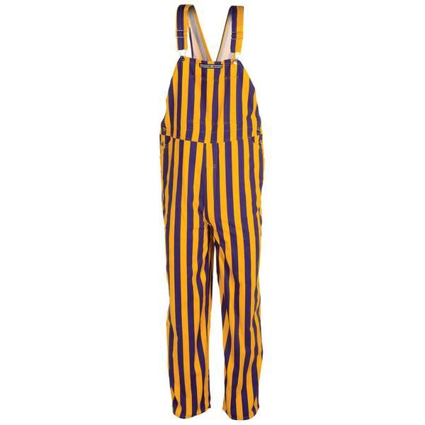Purple and Yellow Stripe Bib Overalls