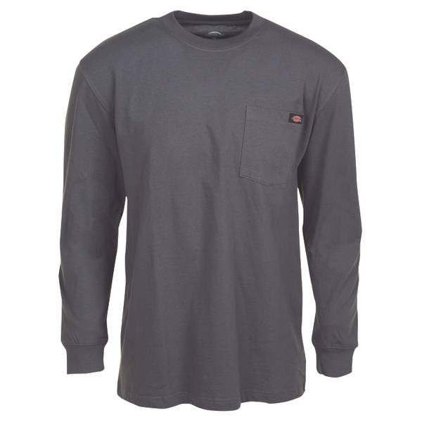 Dickies Men 39 S Long Sleeve Heavyweight Pocket T Shirt
