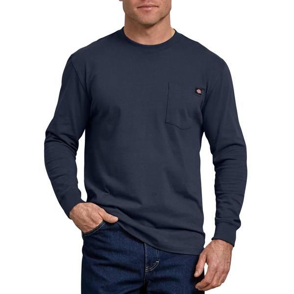 61e59b1dcbb2 Dickies Men's Charcoal Long Sleeve Heavyweight Pocket T-Shirt