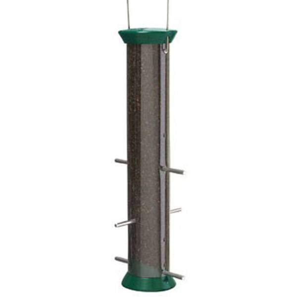New Generation 15 in. Forest Green Nyjer Seed Feeder