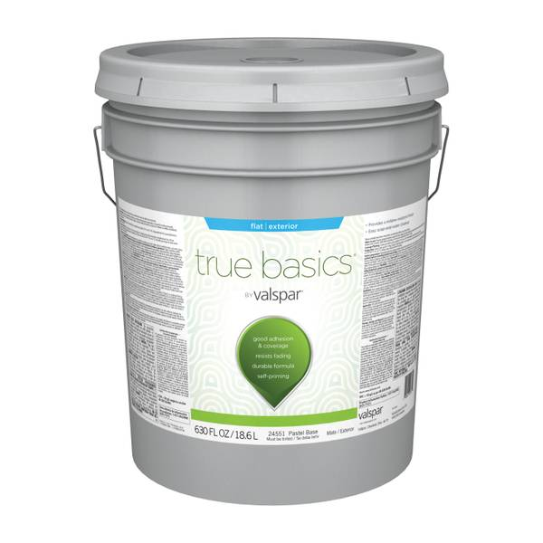 Valspar True Basics Exterior Flat Latex Paint