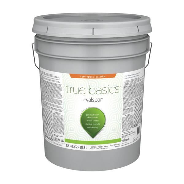 Valspar true basics exterior semi gloss latex paint - Valspar integrity exterior paint ...
