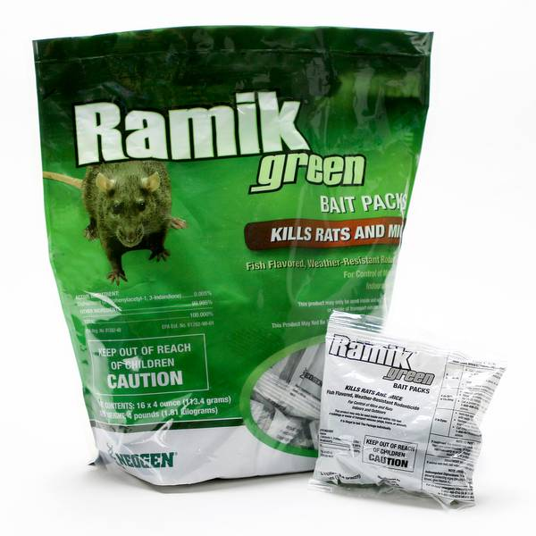 Green Bait Packs - Kills Mice and Rats