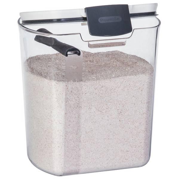 Progressive Prokeeper Flour Storage, Flour Storage Jars Glass