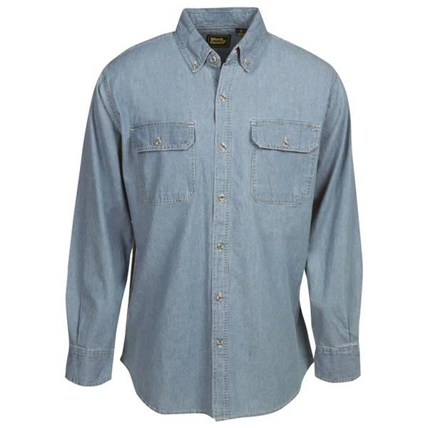 Men's Long Sleeve Teflon Denim Shirt