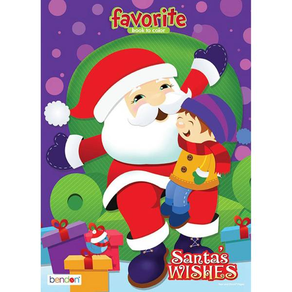 Santa Wishes Favorite Book to Color Coloring Book