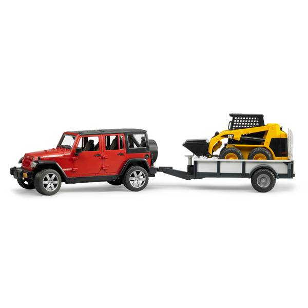 Jeep Wrangler Unlimited Rubicon with Trailer & CAT Skid Steer
