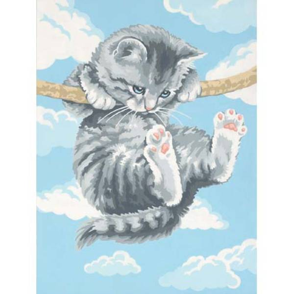 PaintWorks Hang on Kitty-Paint by Number Craft Kit