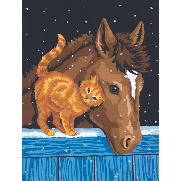 Pony & Kitten Paint by Number Kit