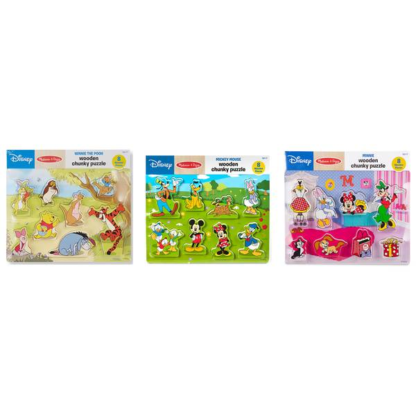 Minnie Wooden Chunky Puzzle Assortment