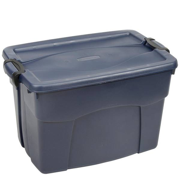 United Solutions 35 Gal Rubbermaid Roughneck Latching Tote