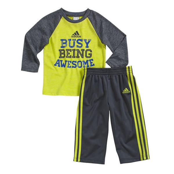 Baby Boy's Gray & Yellow Fully Charged T-shirt