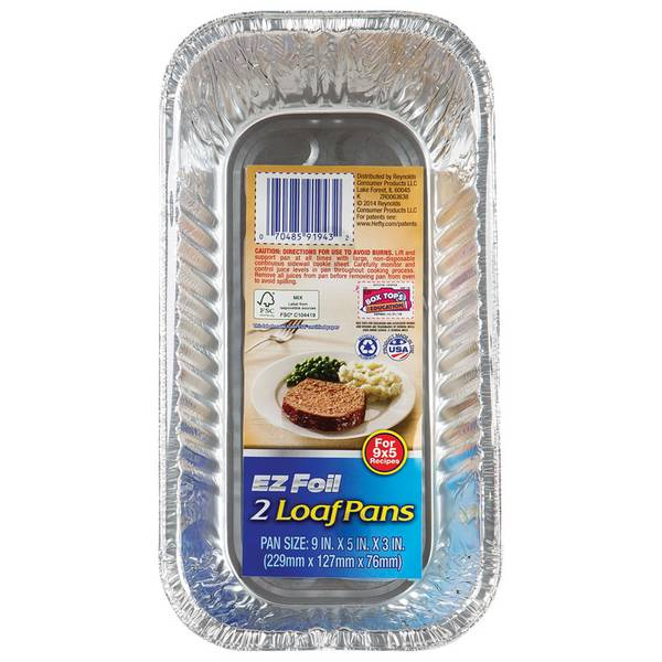 Hefty Ez Foil Loaf Pan 2 Pack