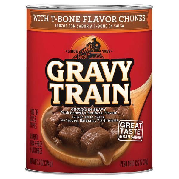 T-Bone Chunks In Gravy Dog Food