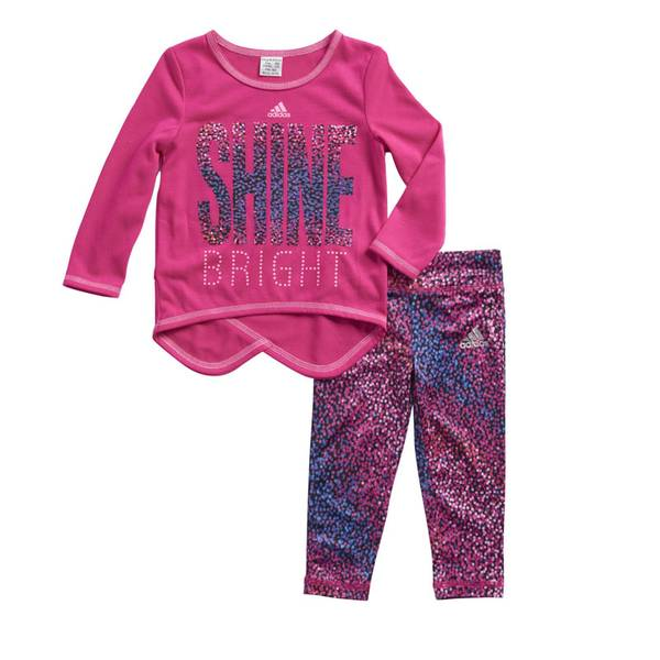 Baby Girl's Hi-Low Top & Pants Set