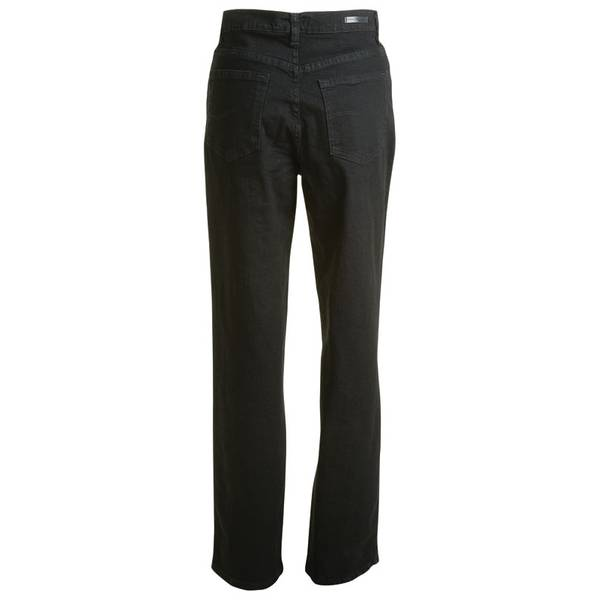 Women's Authentic Black Relaxed Fit Straight Leg Jeans