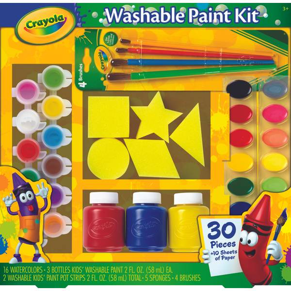Washable Kids Paint Activity Set Assortment