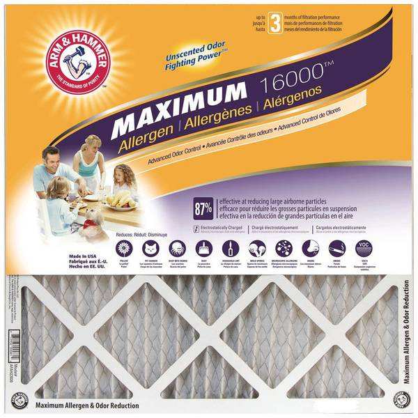 Maximum Allergen & Odor Reduction Air Filter