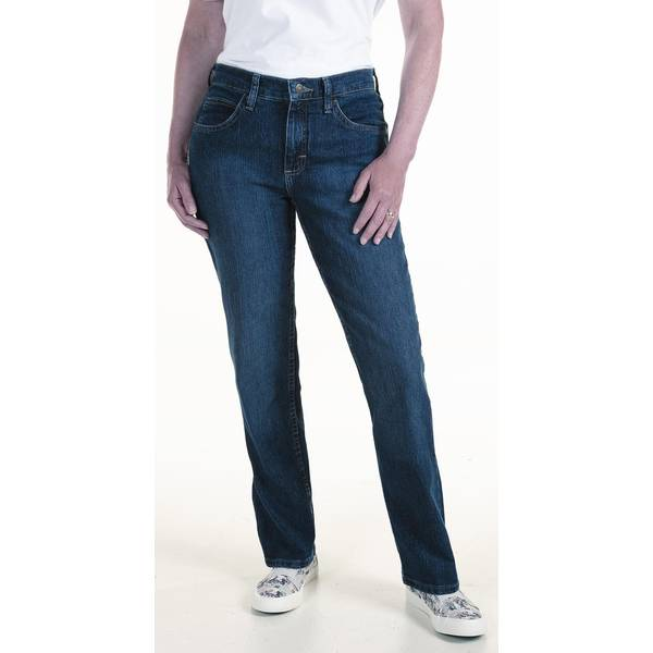 Long Tall Sally Tall Womens Relaxed Straight Leg Mid Rise Jean Light Vintage