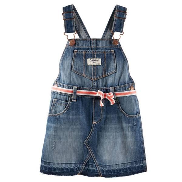 Infant Girl's Denim Jumper Suit