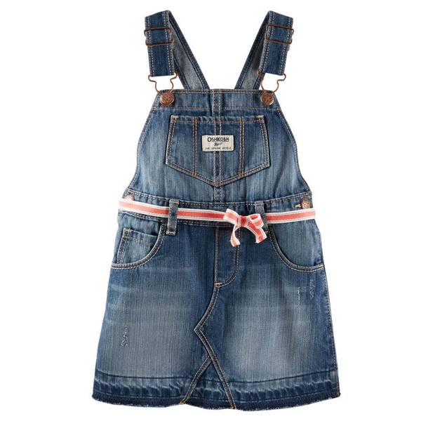 Baby Girl's Denim Jumper Suit