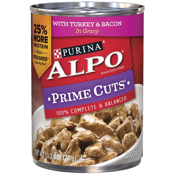 Prime Cuts Turkey Bacon Dog Food