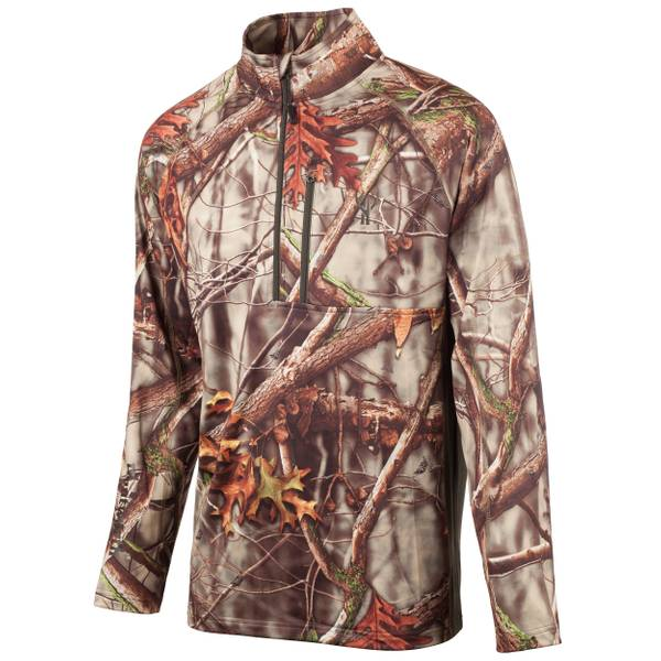 Men's Oak Tree EVO Camouflage Quarter Zip Performance Fleece Pullover Jacket