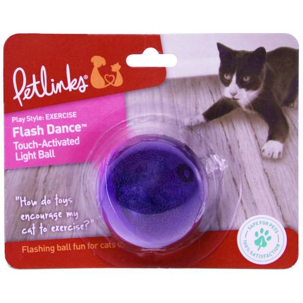 Flash Dance Touch Activated Light Ball Cat Toy