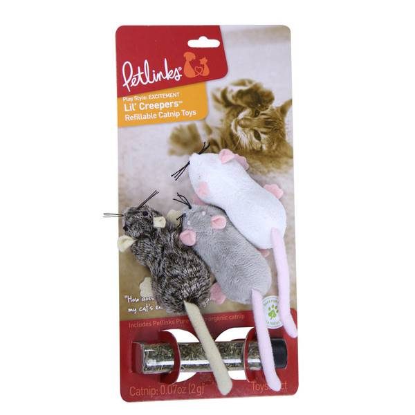 Lil Creepers Refillable Cat Toy - 3 Pack