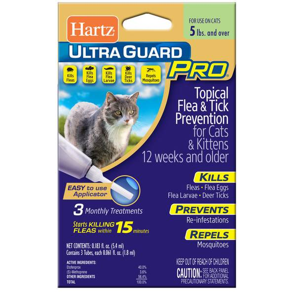 UltraGuard Pro Flea & Tick Treatment Drops for Cats & Kittens
