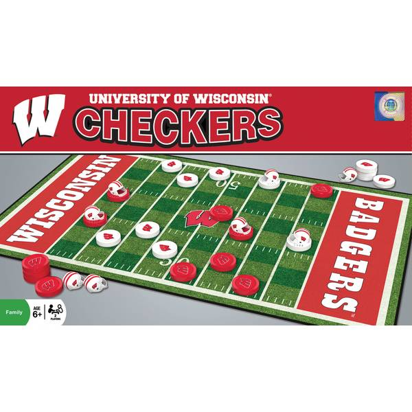 NCAA Wisconsin Badgers Team Checkers