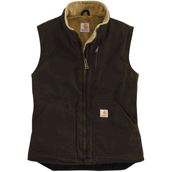 Women's Sandstone Mock Neck Vest